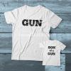 Gun-Son of a Gun Couple adult kids Tshirt