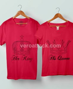 Her King His Queen Couple Tshirt size S to 5XL - veroattack.com