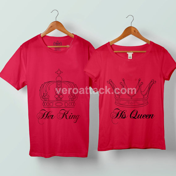 26fb4ca2c0e Her King His Queen Couple Tshirt size S to 5XL. Shirts For Couples ...