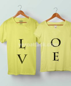 Love Couple Tshirt size S to 5XL - veroattack.com