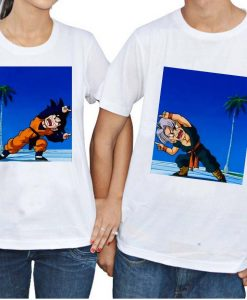 goten and trunks fusion Couple Tshirt Size S,M,L,XL,2XL,3XL