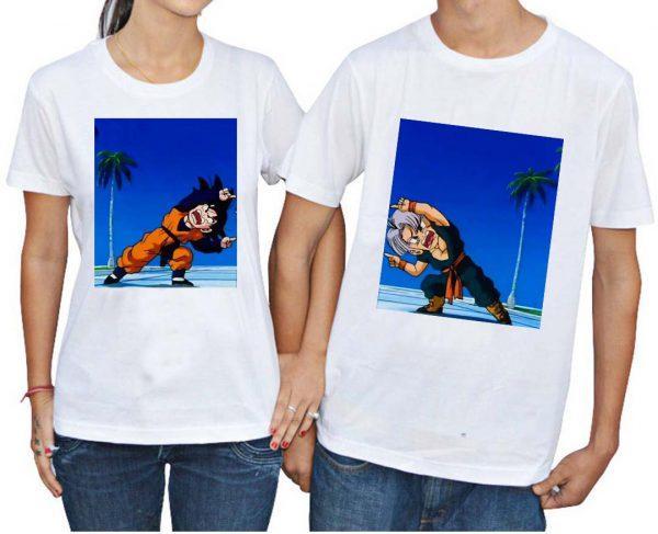 goten and trunks fusion Couple Tshirt Size S,M,L,XL,2XL,3XL