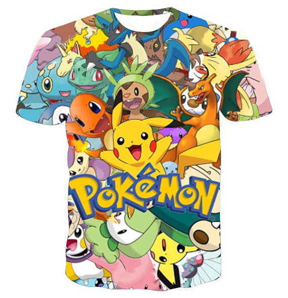 Pokemon Shirt Designs | Pokemon Collage Full Print Graphic Shirt