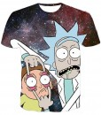 Rick and morty galaxy full print graphic shirt