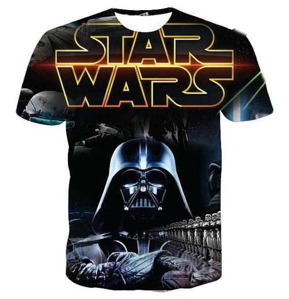 Star wars dart vader full print graphic shirt