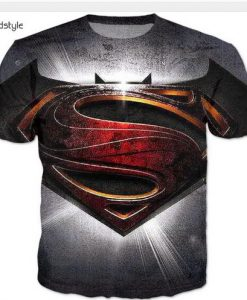 Superman and Batman full print graphic shirt