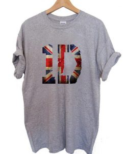 1D united kingdom flag T Shirt Size S,M,L,XL,2XL,3XL