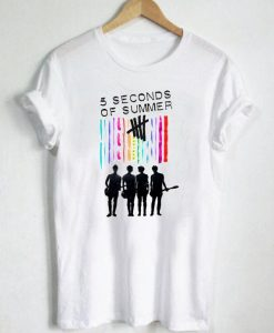 5 Seconds Of Summer Color T Shirt Size S,M,L,XL,2XL,3XL