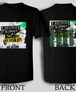 5 Seconds of Summer 2016 T Shirt Size S,M,L,XL,2XL,3XL