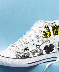 5 seconds of summer album High Top Canvas Shoes