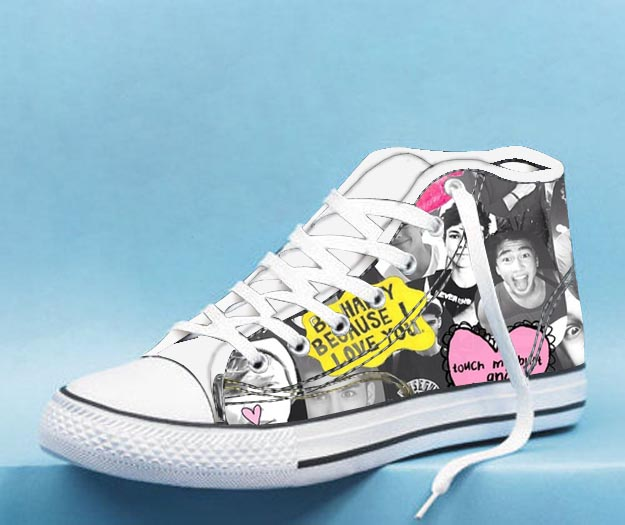 5 seconds of summer collages High Top Canvas Shoes