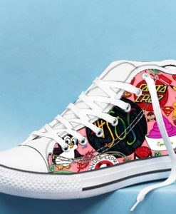 5 seconds of summer collage High Top Canvas Shoes