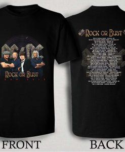 ACDC Rock or Bust 2016 Tour T Shirt Size S,M,L,XL,2XL,3XL
