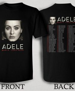 Adele 2016 World Tour T Shirt Size S,M,L,XL,2XL,3XL
