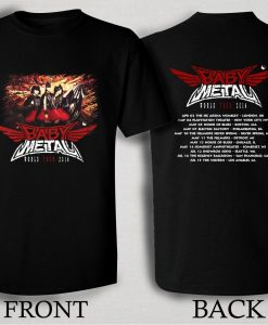 Baby Metal 2016 World Tour T Shirt Size S,M,L,XL,2XL,3XL
