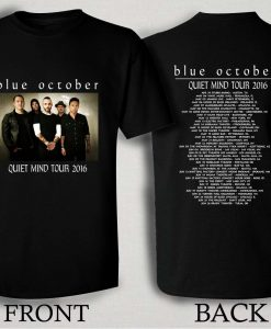 Blue October Quiet Mind Tour 2016 T Shirt Size S,M,L,XL,2XL,3XL