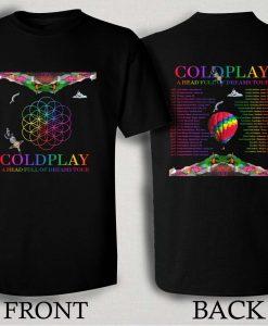 Coldplay A Head Full Of Dreams 2016 T Shirt Size S,M,L,XL,2XL,3XL