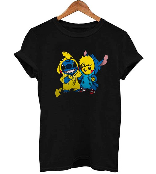 Pikachu And Stitch T Shirt Size SMLXL2XL3XL