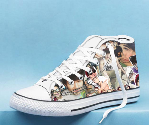 casesstay cloudy jc High Top Canvas Shoes