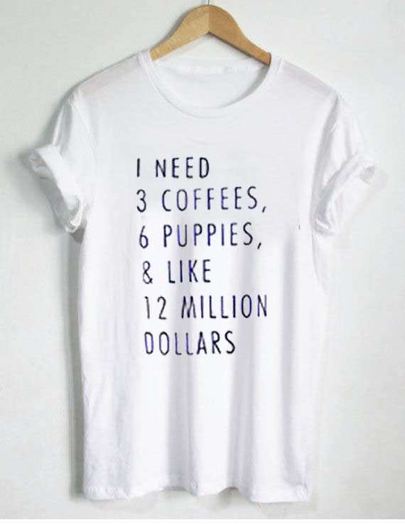 Coffee t shirt size s m l xl 2xl 3xl for Full hand t shirts for womens