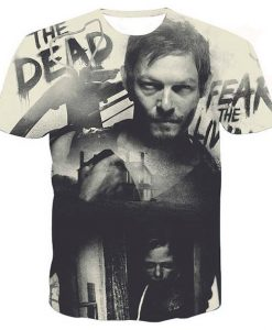 Daryl dixon the walking dead full print graphic shirt