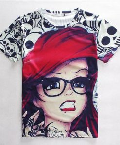 Little mermaid full print graphic shirt