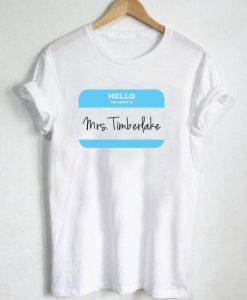 Mrs Justin Timberlake T Shirt Size S,M,L,XL,2XL,3XL