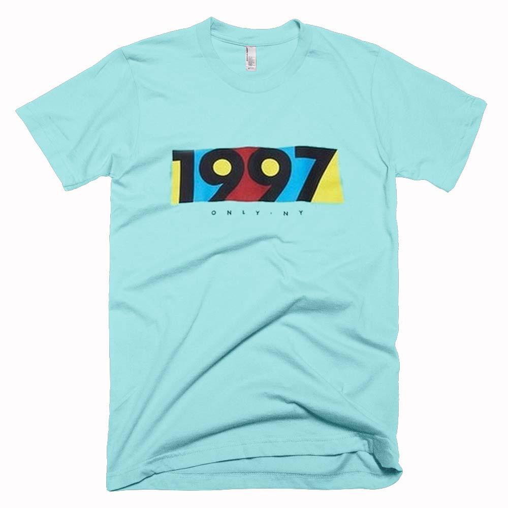 1997 light aqua color t shirt size s m l xl 2xl 3xl for Aqua blue color t shirt