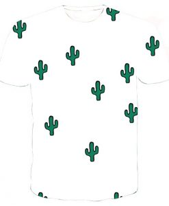 little cactus collage full print graphic shirt