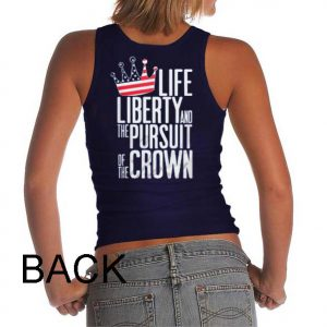 life liberty the pursuit the crown Adult tank top