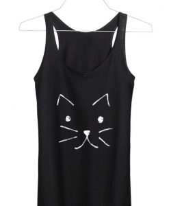 meow cat lover Adult tank top men and women