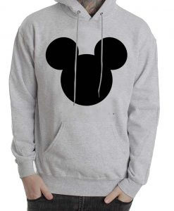 mickey mouse face grey color Hoodies