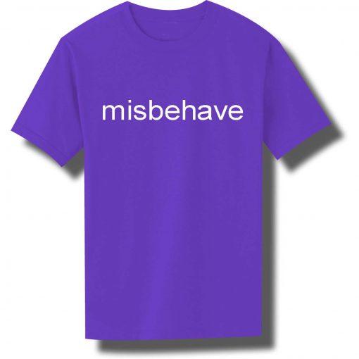 misbehave purple color T Shirt Size S,M,L,XL,2XL,3XL