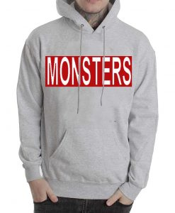 Monsters grey Hoodies