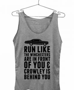 run like quotes Adult tank top men and women