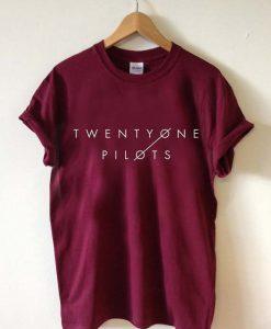 twenty one pilots 21 font T Shirt Size S,M,L,XL,2XL,3XL