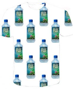 fiji water collage full print graphic shirt