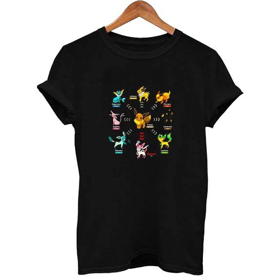 847b47d4 Pokemon Eevee Evolution T Shirt Size XS,S,M,L,XL,2XL,3XL