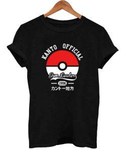 kanto official pokemon T Shirt Size XS,S,M,L,XL,2XL,3XL