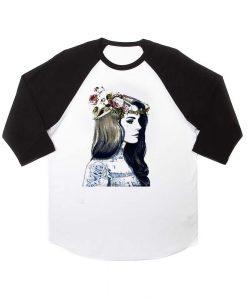 lana del rey tattoo and rose raglan unisex tee shirt for adult men and women