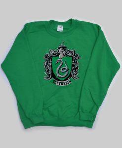 slytherin harry potter green color Unisex Sweatshirts