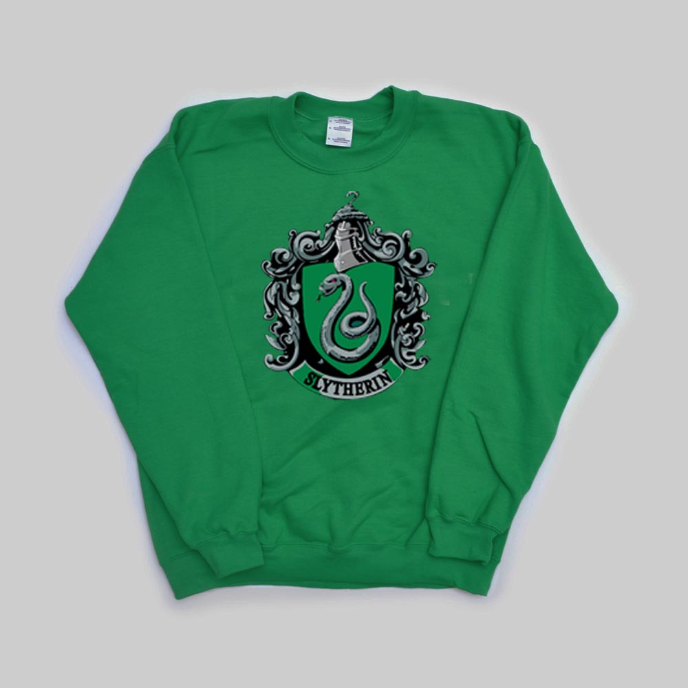 slytherin harry potter green color Unisex Sweatshirts