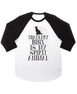 thackery binx is my spirit animal raglan unisex tee shirt for adult men and women