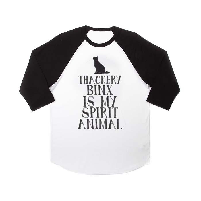 thackery binx is my spirit animal raglan unisex tee shirt