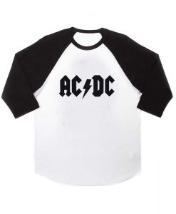 acdc logo raglan unisex tee shirt for adult men and women