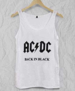 ACDC back in black Adult tank top