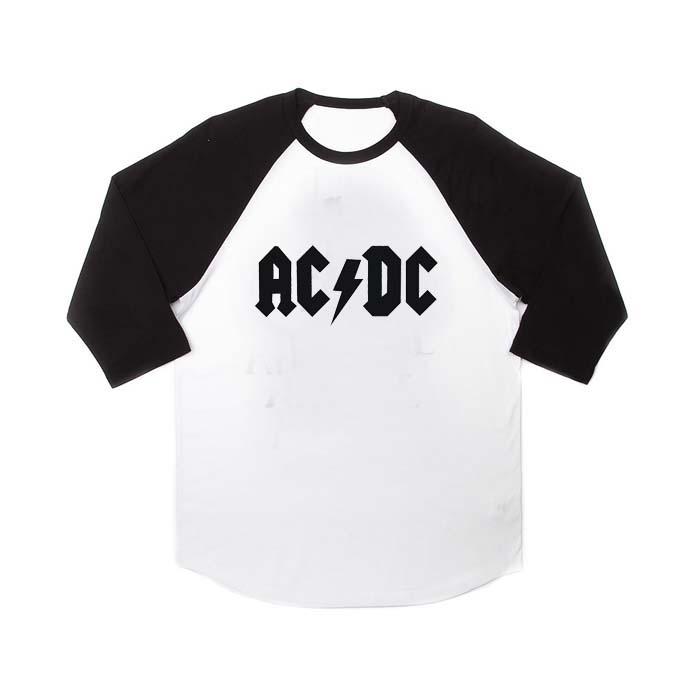 acdc logo raglan unisex tee shirt