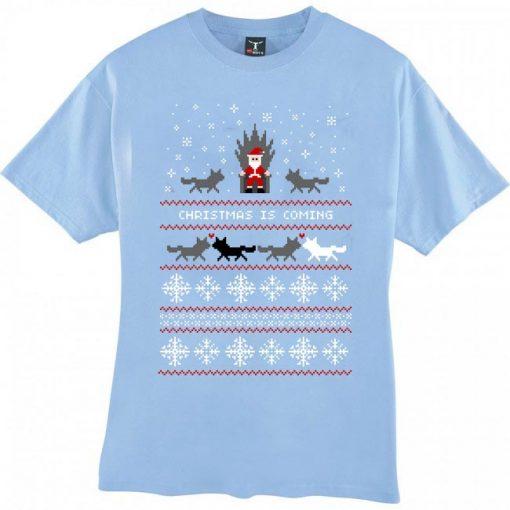 Christmas Is Coming Santa T Shirt Size XS,S,M,L,XL,2XL,3XL