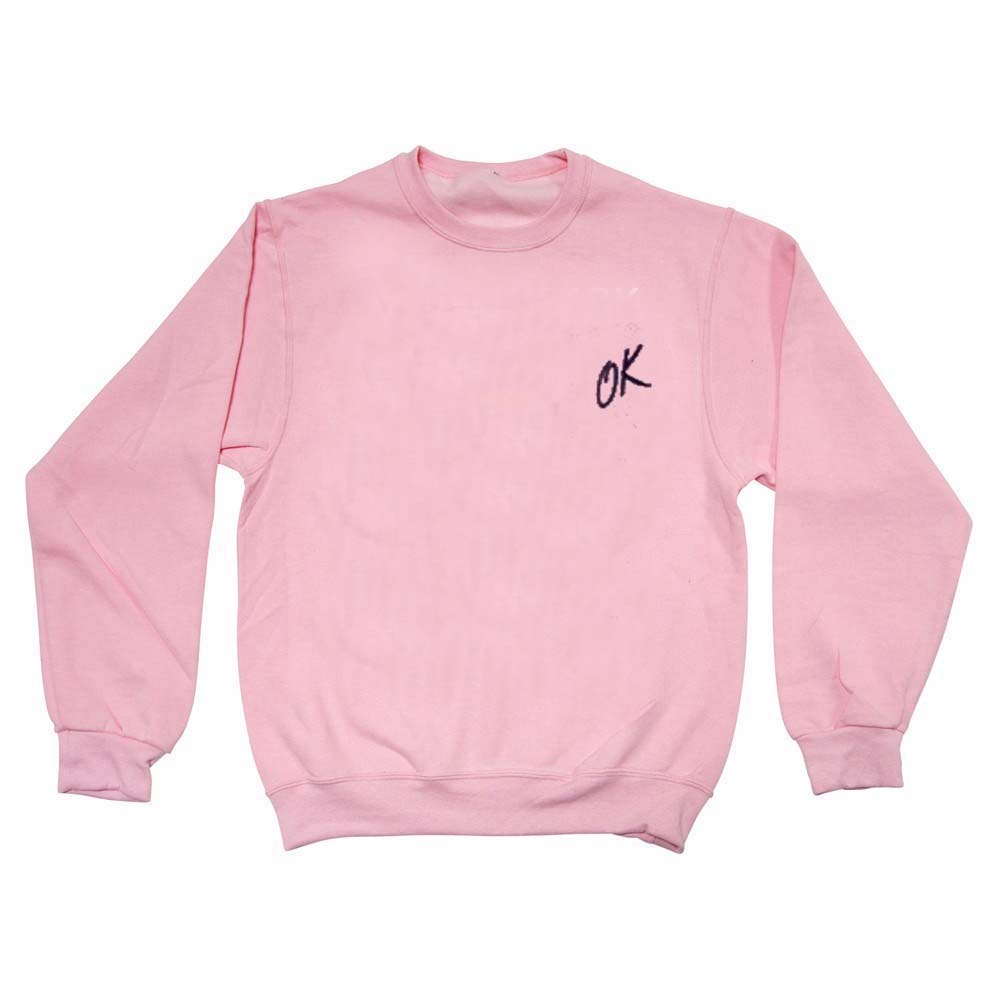 OK light pink Unisex Sweatshirts