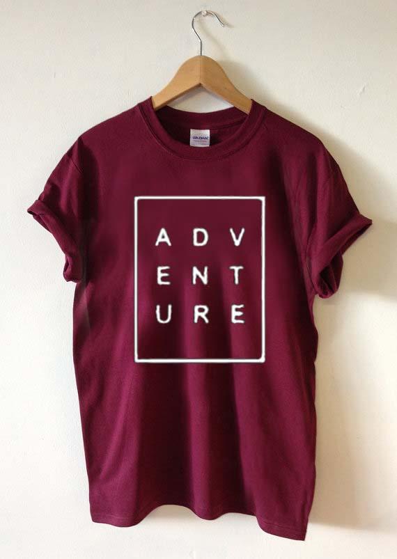 Adventure Font T Shirt Size Xs S M L Xl 2xl 3xl